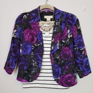 ☆ Michael Kors Floral 3/4 Sleeve Blazer